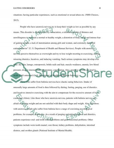 Eating disorders essay example