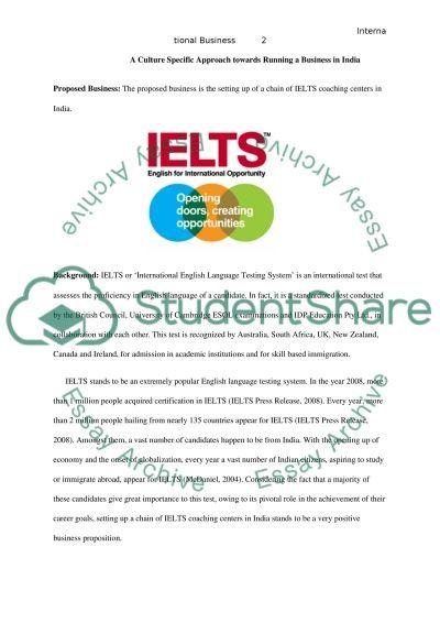 International Business essay example