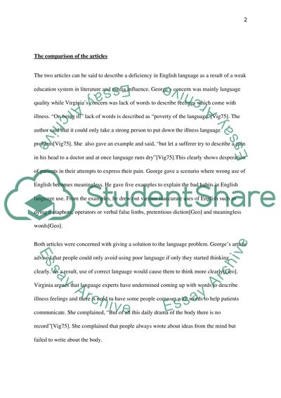 Science Essays  Narrative Essay Example For High School also My First Day Of High School Essay On Being Ill By Virginia Woolf And Politics And The English  Business Cycle Essay
