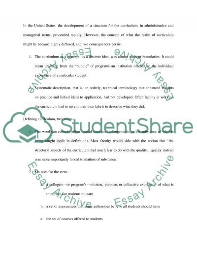 Curriculum definitions and reference point