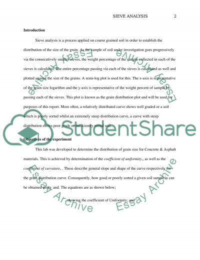 report 1 Essay example