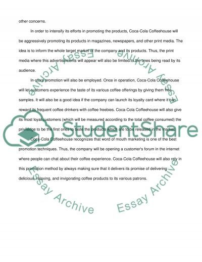 Coca Cola and Coffee House Essay example