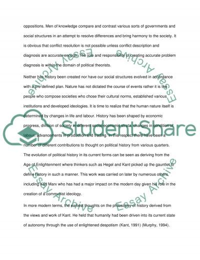 Analysis of General Theories of History essay example