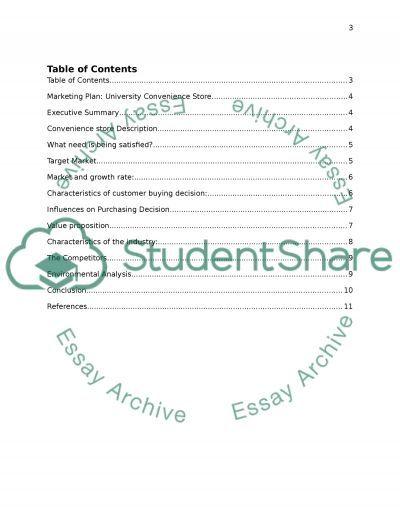 University Convineince Store essay example