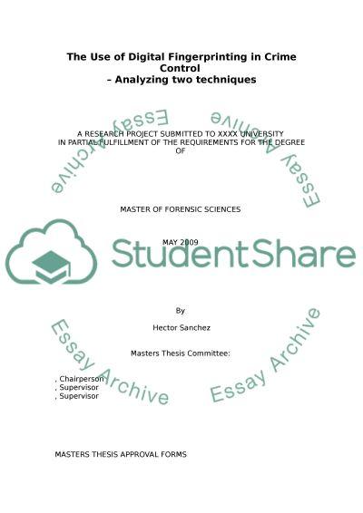 Digital Fingerprinting essay example