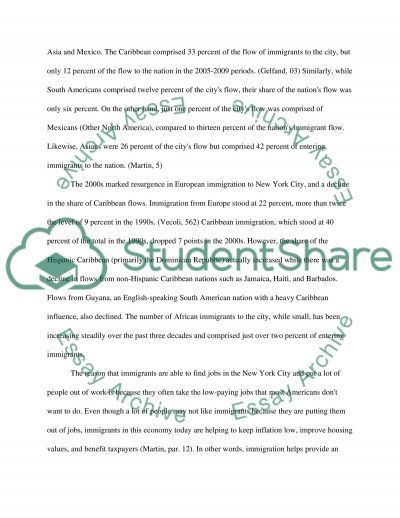 Effect of Immigration on New York City essay example