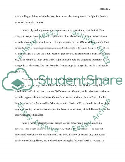 courage and beowulf essay example This essay beowulf and odysseus hero comparison and other 63,000+ term papers, college essay examples and free essays are sort of courage beowulf displayed.