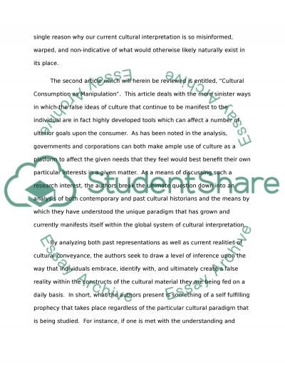 Summary of two articles essay example