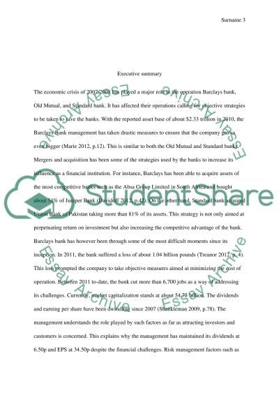 Finance essay: Risk Management and Investment essay example