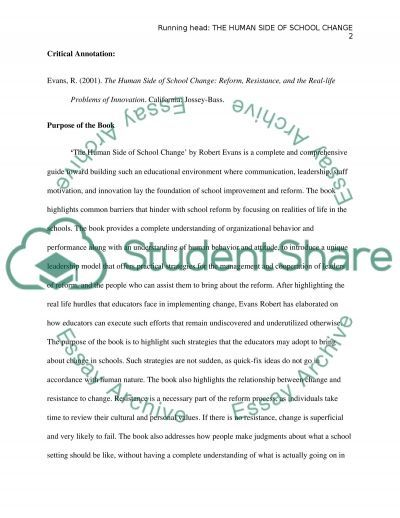 The human side to school change essay example