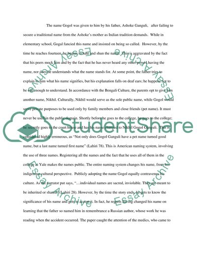 Essays On English Language The Namesake Character Analysis Paper Hiv Essay Paper also Environmental Health Essay The Namesake Character Analysis Paper Essay Example  Topics And  Proposal Essay Template