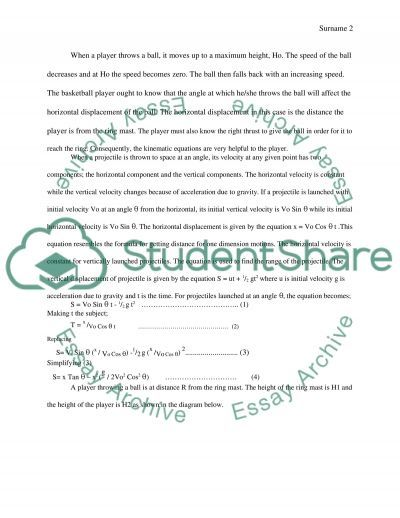 Investigating the physics of basketball essay example