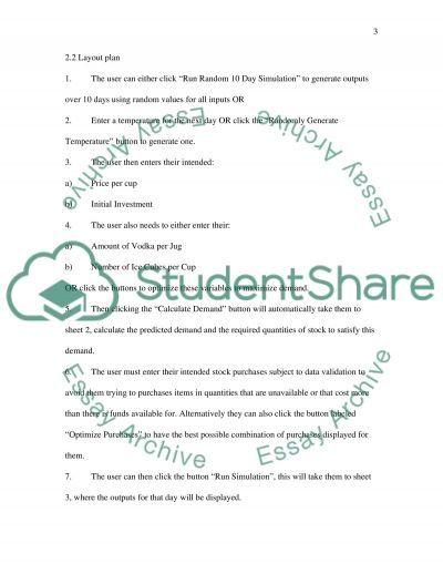 Spread Sheet Modelling essay example