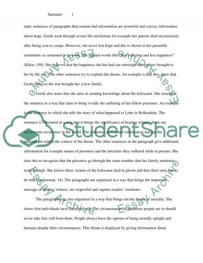 thematic essay examples
