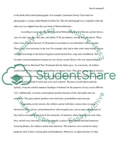 Essay English Example Interpretive Essay On Short Storie By Hemingway Obrien The Things They  Carried Research Paper Essays also Example Of Thesis Statement For Essay Interpretive Essay On Short Storie By Hemingway Obrien The Things Sample Persuasive Essay High School