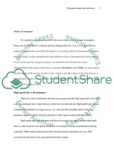 modes of transport essay in english