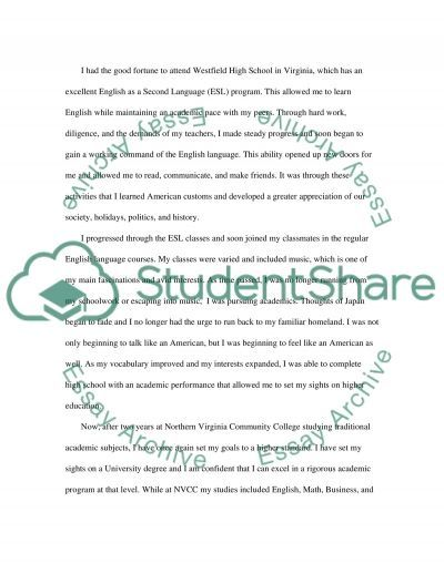 Office of Admissions Essay example