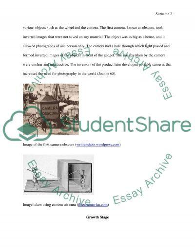 Camera essay example