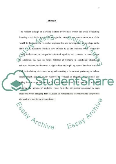 Student Voice - Pandoras Box or Philosophers Stone essay example