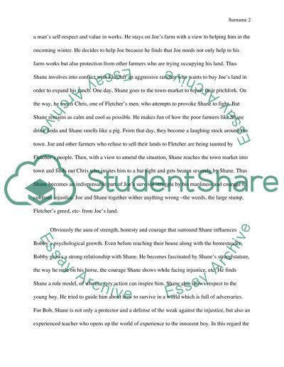 Summary of Shane