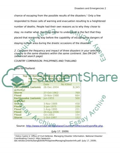 MHE503 Survey of Emergency and Disaster Mgt Module 1 SLP essay example