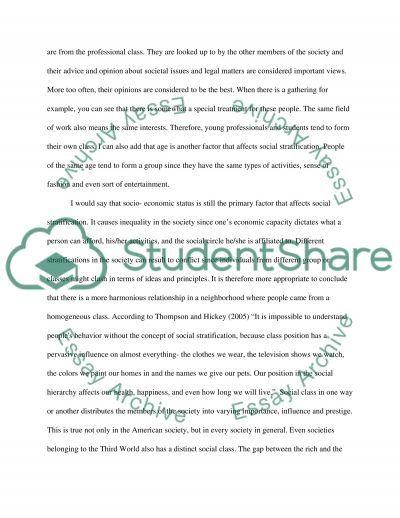 Sociology essay example