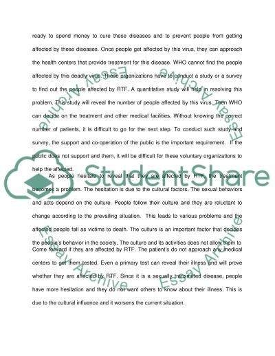 The investigation of RTF virus essay example