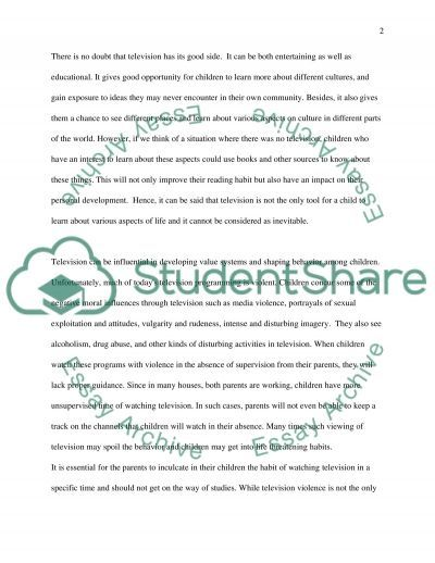 Child Watch TV is good or not essay example