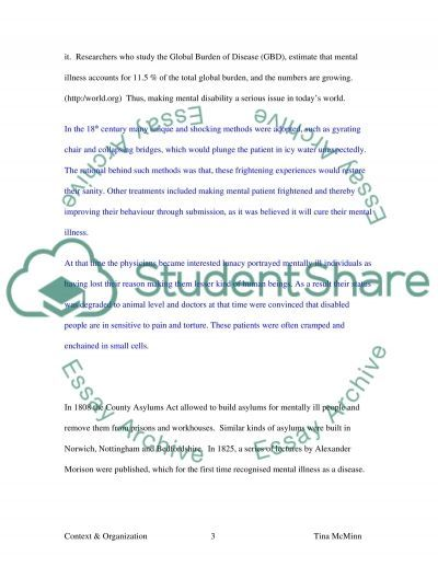 Community Care for Those with a Mental Health Disability essay example