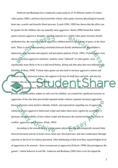 Essay Examples High School Video Game Violence Fifth Business Essays also Example Proposal Essay Video Game Violence Essay Example  Topics And Well Written Essays  Samples Of Essay Writing In English