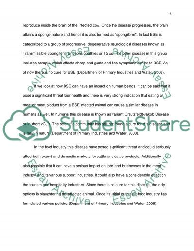Mad Cow Disease College Essay essay example