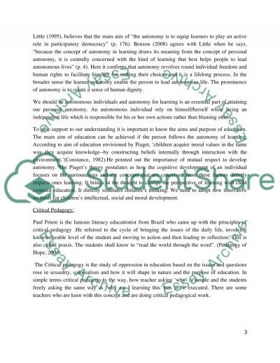 Modern Education Thought essay example