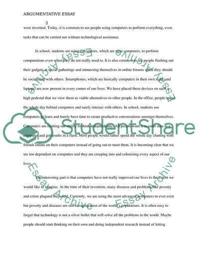 Argumantitve essay