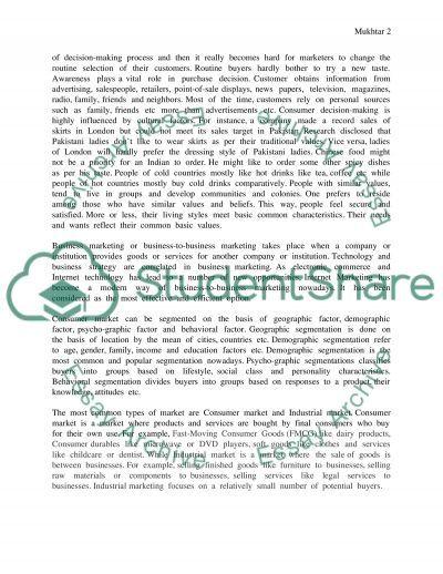 Marketing High School Essay essay example