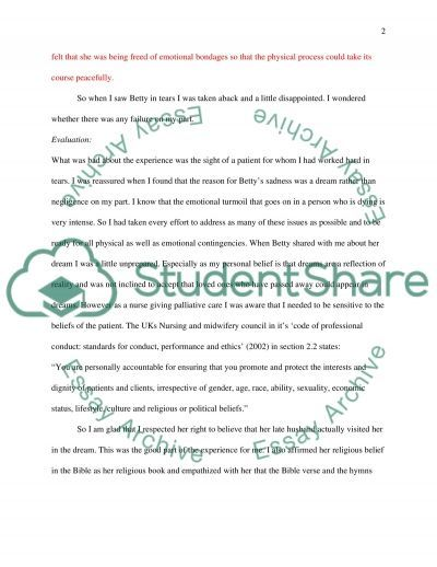 REFLECTIVE ESSAYS essay example