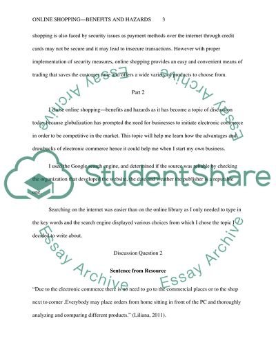 benefits of online shopping essay
