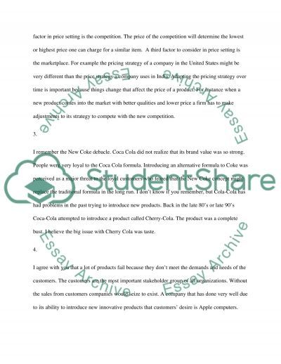 Discussion and Participation questions essay example
