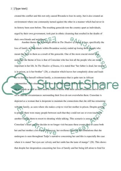 literary analysis of the shadow of imana essay example topics  literary analysis of the shadow of imana essay example