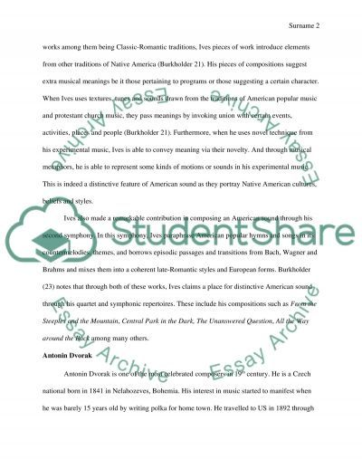 First American Music essay example