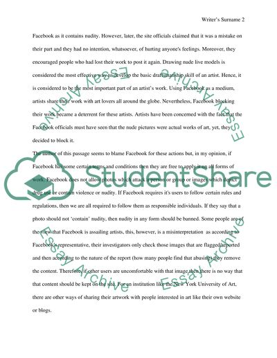 Strong Response Essay