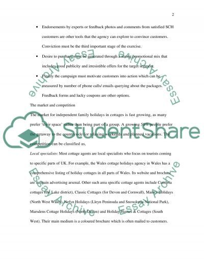 Sunny Cottage Holidays (SCH) essay example