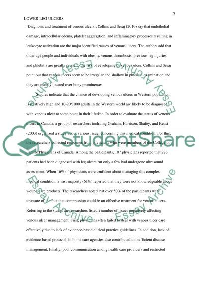 Lower Leg Ulcers essay example