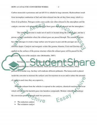 Catalytic converter essay