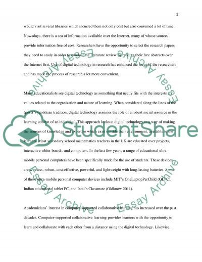 Digital technologhy plays a key role in education essay example