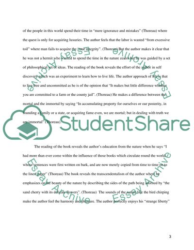 Walden By Henry Thoreau Essay Example  Topics And Well Written  Walden By Henry Thoreau Mba Assignment Help Online also Essay About High School  Thesis Examples For Essays