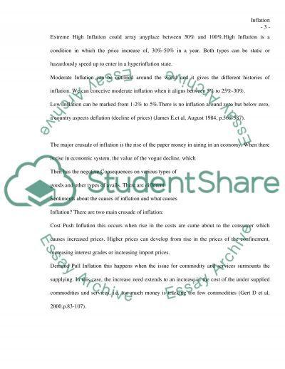 Infalation essay example