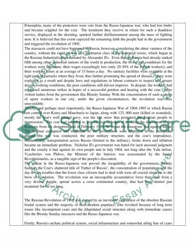 Structure essay questions (Russia 1905-1941) essay example