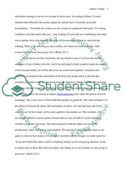 This is John Galt Speaking essay example