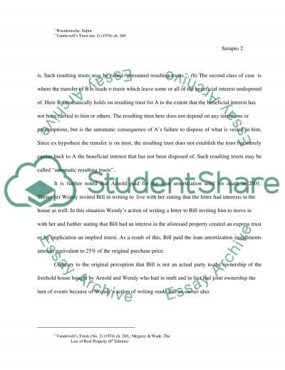 Trust in a law essay example