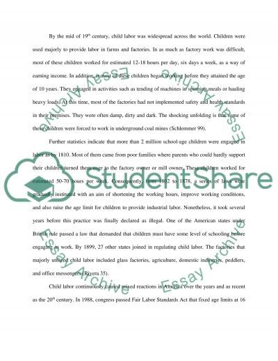 essay child labor china Child labor issue in china - childhood essay example the child labor has been a controversial issue in china over the past ten.